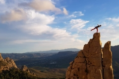 Escalera Arabe - wspinaczka w sektorze Upper Crag.