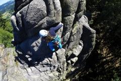 Kursy wspinaczki skalnej w Sokolikach.