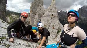 Kursy wspinaczkowe w Dolomitach. Cinque Torri.